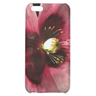 Caso rosado del iPhone 4 de la amapola