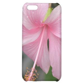 Caso rosado del iPhone 4 de la flor del hibisco