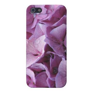 Caso rosado del iPhone 4 de la flor del Hydrangea iPhone 5 Protectores