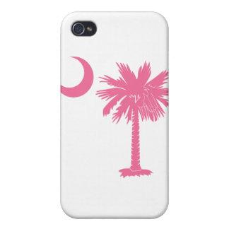 Caso rosado del iPhone 4 de la luna del Palmetto iPhone 4 Cárcasa