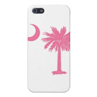 Caso rosado del iPhone 4 de la luna del Palmetto iPhone 5 Carcasas