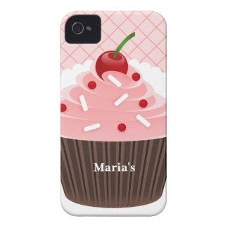 Caso rosado del iPhone 4 de la magdalena Case-Mate iPhone 4 Carcasa