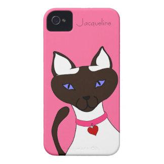 Caso rosado del iPhone 4 de la plantilla de Moira iPhone 4 Case-Mate Protector