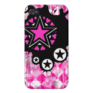 Caso rosado del iPhone 4 de la salpicadura de la e iPhone 4/4S Funda