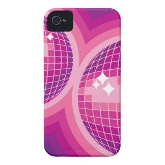 Caso rosado del iPhone 4 de las bolas de espejo Case-Mate iPhone 4 Cárcasas