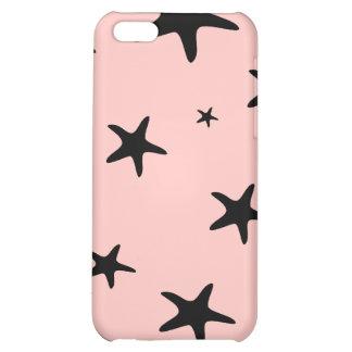 Caso rosado del iPhone 4 de las estrellas de mar p