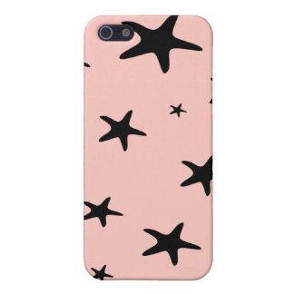 Caso rosado del iPhone 4 de las estrellas de mar p iPhone 5 Cobertura