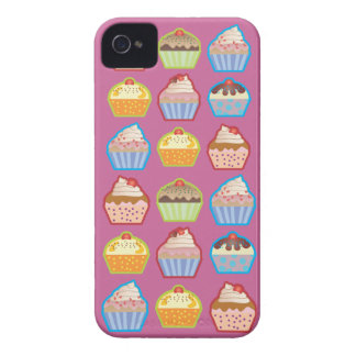 Caso rosado del iPhone 4 de las magdalenas de Lots Case-Mate iPhone 4 Carcasa