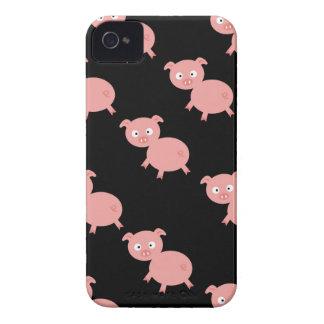 Caso rosado del iphone 4 de los cerdos apenas allí Case-Mate iPhone 4 cobertura