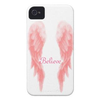 Caso rosado del iPhone 4 del ala del ángel iPhone 4 Protectores