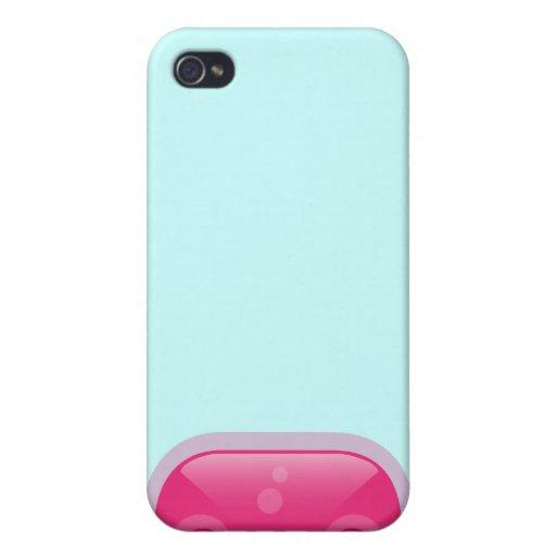 Caso rosado del iPhone 4 del Bloop de Squishies iPhone 4 Protectores