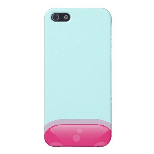 Caso rosado del iPhone 4 del Bloop de Squishies iPhone 5 Funda