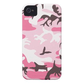 Caso rosado del iPhone 4 del camuflaje iPhone 4 Case-Mate Protector