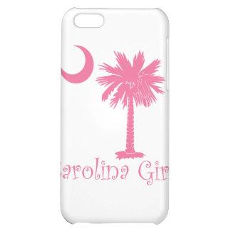 Caso rosado del iPhone 4 del chica de Carolina