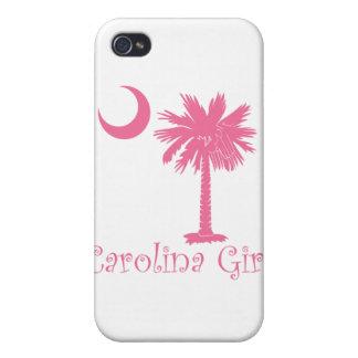 Caso rosado del iPhone 4 del chica de Carolina iPhone 4 Coberturas