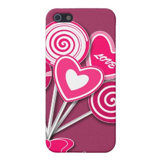 Caso rosado del iPhone 4 del lollipop iPhone 5 Cárcasas