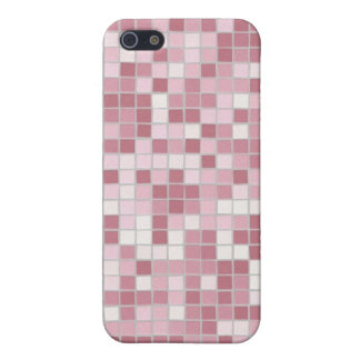 Caso rosado del iPhone 4 del mosaico iPhone 5 Cobertura