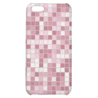 Caso rosado del iPhone 4 del mosaico