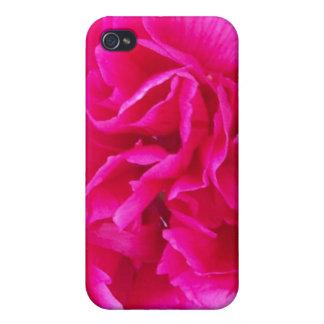 Caso rosado del iPhone 4 del Peony iPhone 4 Carcasa