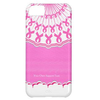 Caso rosado del iPhone 5 C de la ayuda del cáncer  Funda Para iPhone 5C