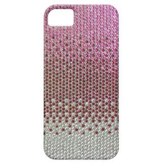 Caso rosado del iPhone 5 de Bling del brillo del iPhone 5 Fundas