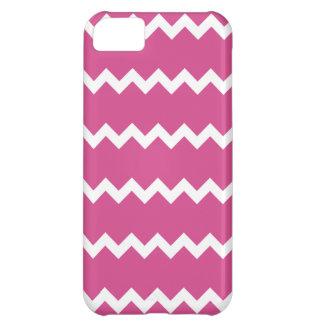 Caso rosado del iPhone 5 de Flambe Chevron