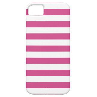 Caso rosado del iPhone 5 de Flambe de las rayas iPhone 5 Case-Mate Funda