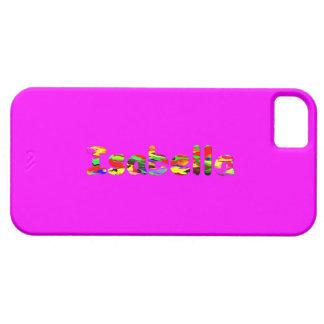 Caso rosado del iphone 5 de Isabel iPhone 5 Carcasas