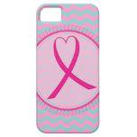 Caso rosado del iphone 5 de la cinta de Chevron iPhone 5 Case-Mate Carcasa