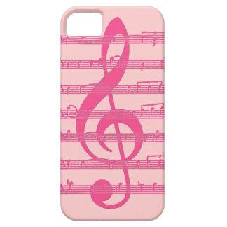 Caso rosado del iphone 5 de la nota de la música iPhone 5 carcasas