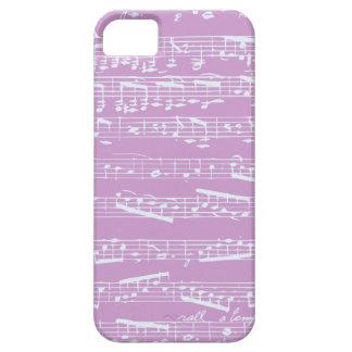 Caso rosado del iphone 5 de la partitura funda para iPhone SE/5/5s