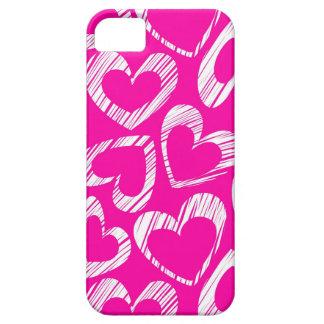 Caso rosado del iPhone 5 de los corazones iPhone 5 Case-Mate Carcasas