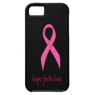 Caso rosado del iphone 5 del amor de la fe de la iPhone 5 fundas