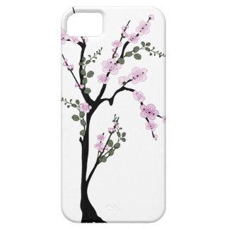Caso rosado del iPhone 5 del árbol del flor iPhone 5 Case-Mate Fundas