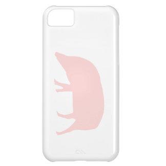 Caso rosado del iPhone 5 del cerdo