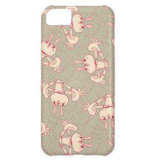 caso rosado del iphone 5 del conejo