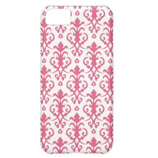 Caso rosado del iPhone 5 del damasco de la madrese