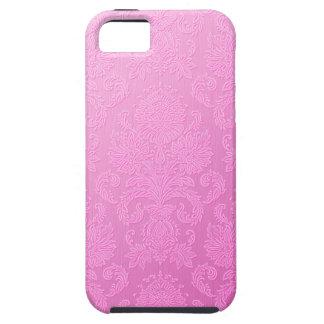 Caso rosado del iPhone 5 del damasco iPhone 5 Protector