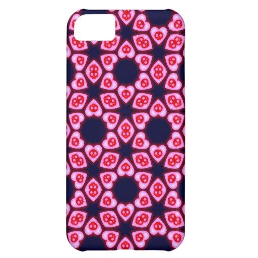 Caso rosado del iphone 5 del diseño floral de los