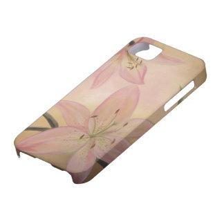 Caso rosado del iPhone 5 del lirio Funda Para iPhone SE/5/5s