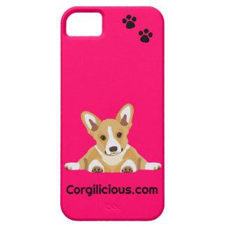 Caso rosado del iPhone 5 del perrito del Corgi iPhone 5 Carcasa