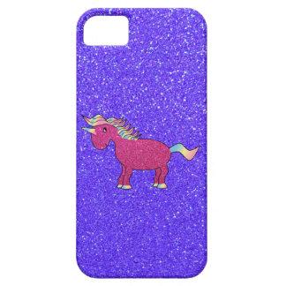 Caso rosado del iphone 5 del unicornio del brillo funda para iPhone SE/5/5s