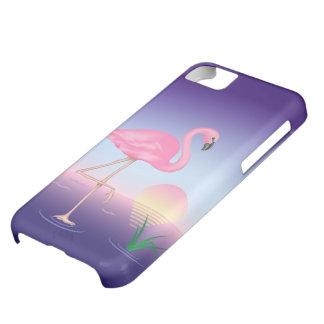 Caso rosado del iPhone 5C del flamenco Funda Para iPhone 5C