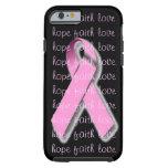 Caso rosado del iPhone 6 de la cinta Funda De iPhone 6 Tough