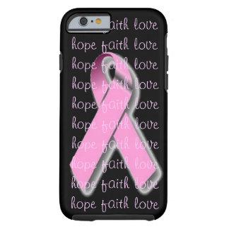 Caso rosado del iPhone 6 de la cinta Funda Resistente iPhone 6