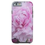 Caso rosado del iPhone 6 de la flor de los Peonies Funda De iPhone 6 Tough