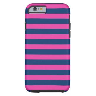 Caso rosado del iPhone 6 de la marina de guerra Funda De iPhone 6 Tough