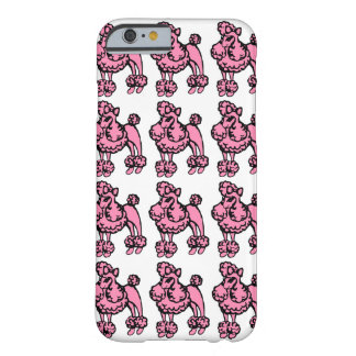 Caso rosado del iPhone 6 de los caniches Funda De iPhone 6 Barely There