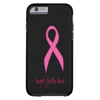 Caso rosado del iPhone 6 del amor de la fe de la Funda Para iPhone 6 Tough