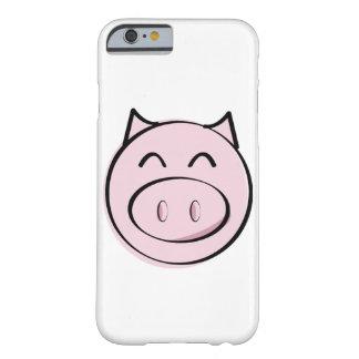 Caso rosado del iPhone 6 del cerdo Funda Barely There iPhone 6